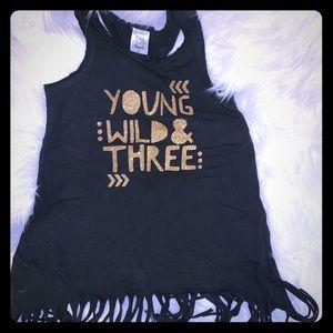 Young, Wild & 3! Tank, dress or Tunic ❤️